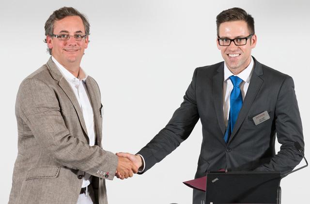 Adam Felesky (left) with Rick Simm