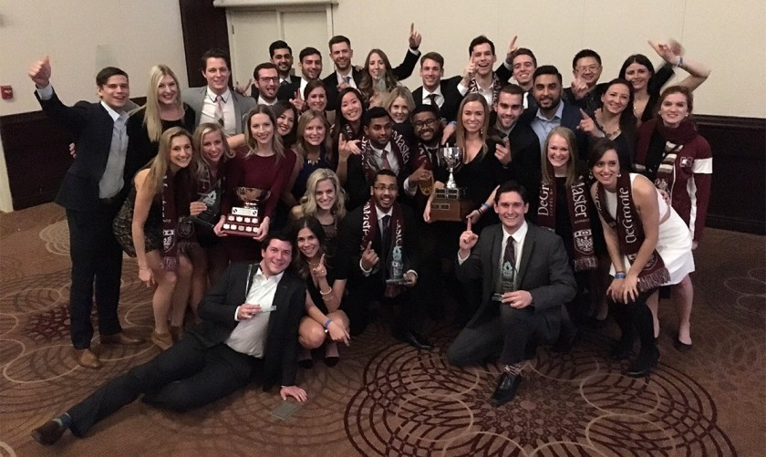 This year, the team from the DeGroote School of Business finished first in both Athletics and Academics. This is DeGroote's fifth time winning the MBA Games.