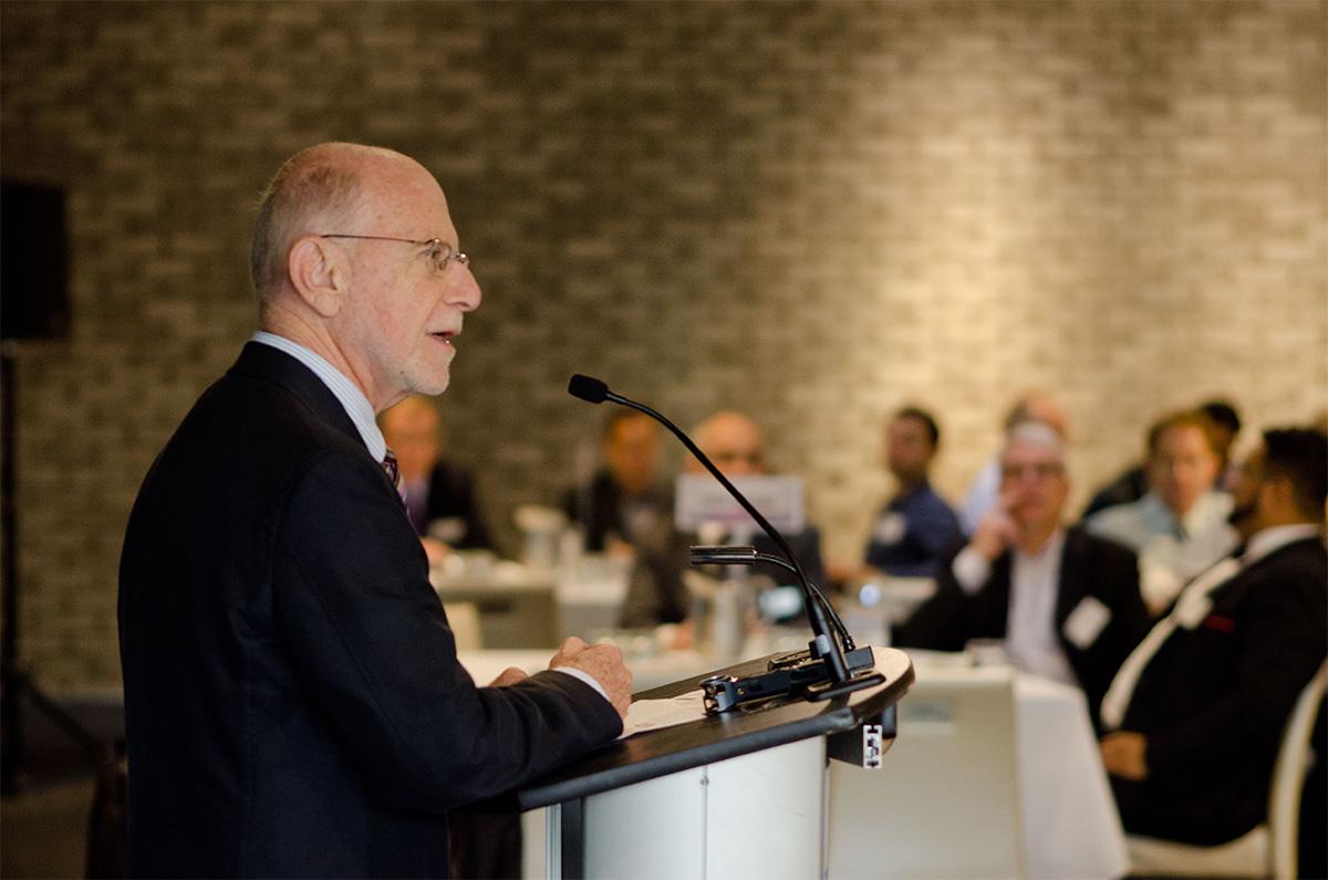Len Waverman, Dean, DeGroote Business School speaking at the 2015 Digital Leadership Summit in Toronto.