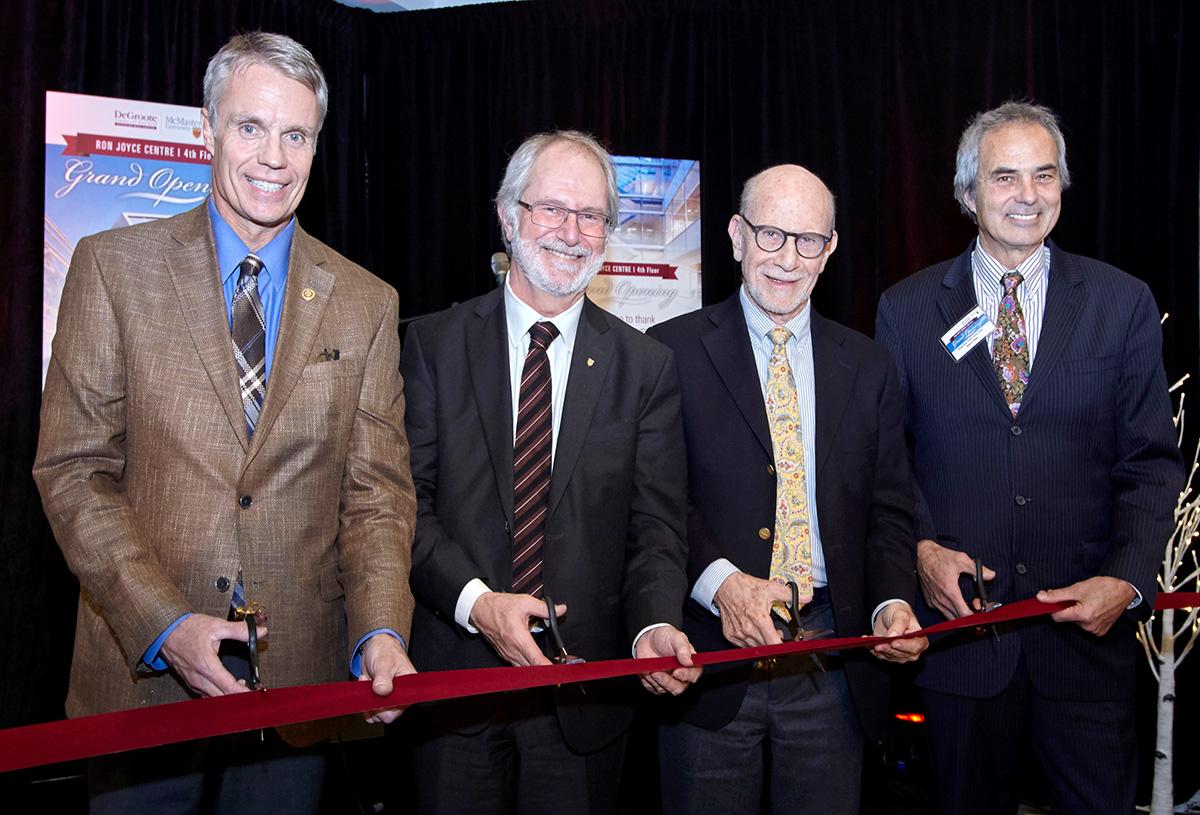 L-R: Rick Goldring, Patrick Deane, Len Waverman, Gary Carr