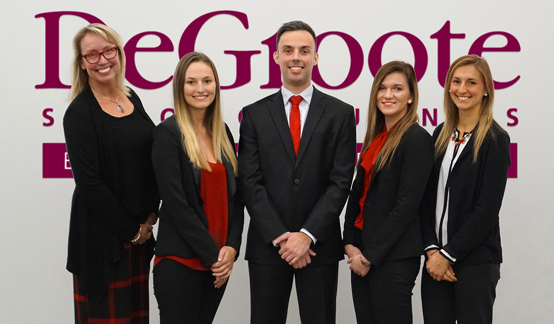 DeGroote Professor Milena Head, with MBA candidates Sarah Schweinberger, Michael Widlicki, Shelby Gorelle, and Briana Knowlton, at the 2017 John Molson MBA International Case Competition in Montréal.