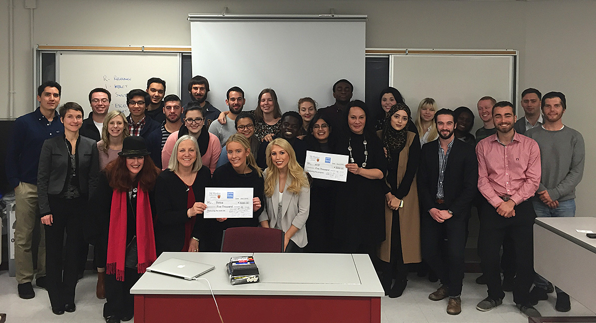 Students in McMaster's Strategic Philanthropy and Leadership class.