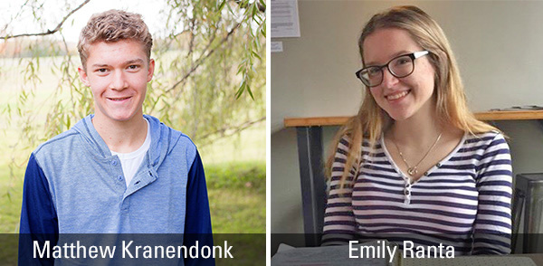 Matthew Kranendonk and Emily Ranta