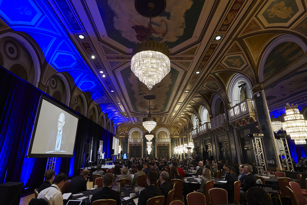 Attendees in the ballroom at the Fairmont Royal York.