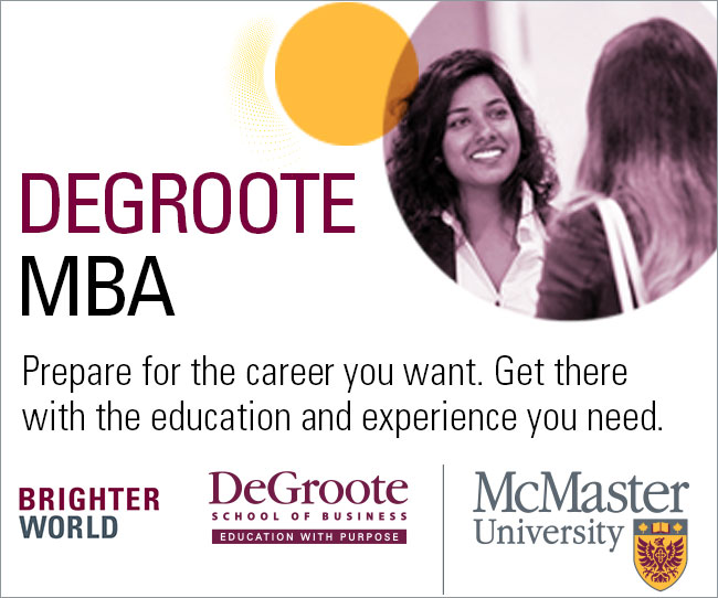 Get There with DeGroote's MBA Program
