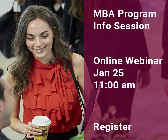 MBA Info Session | Webinar | January 25
