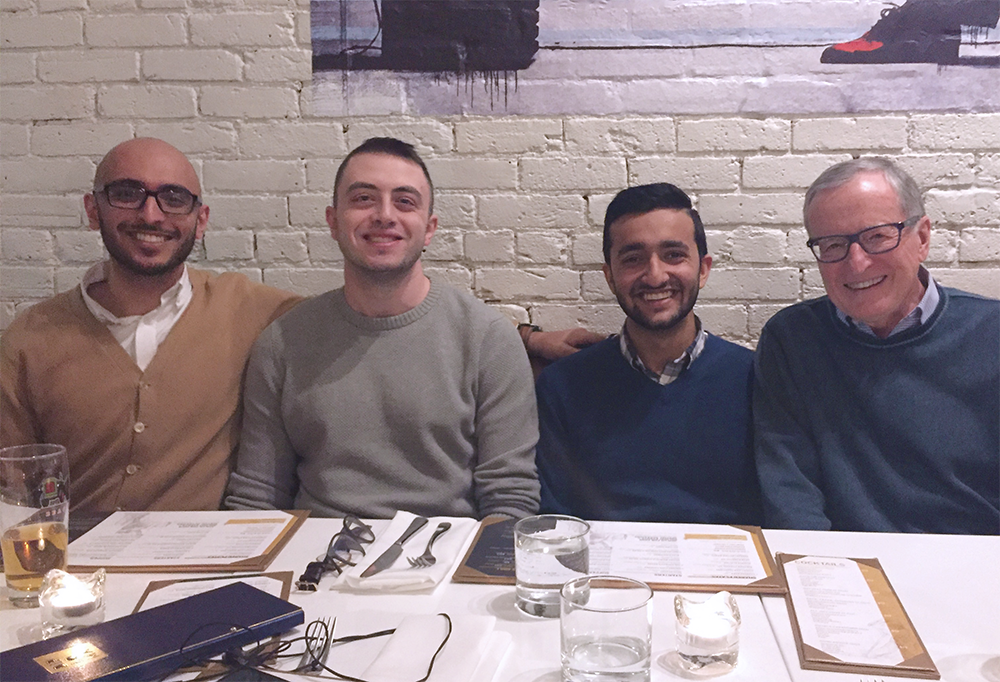 Emerging Health Leaders graduates having dinner