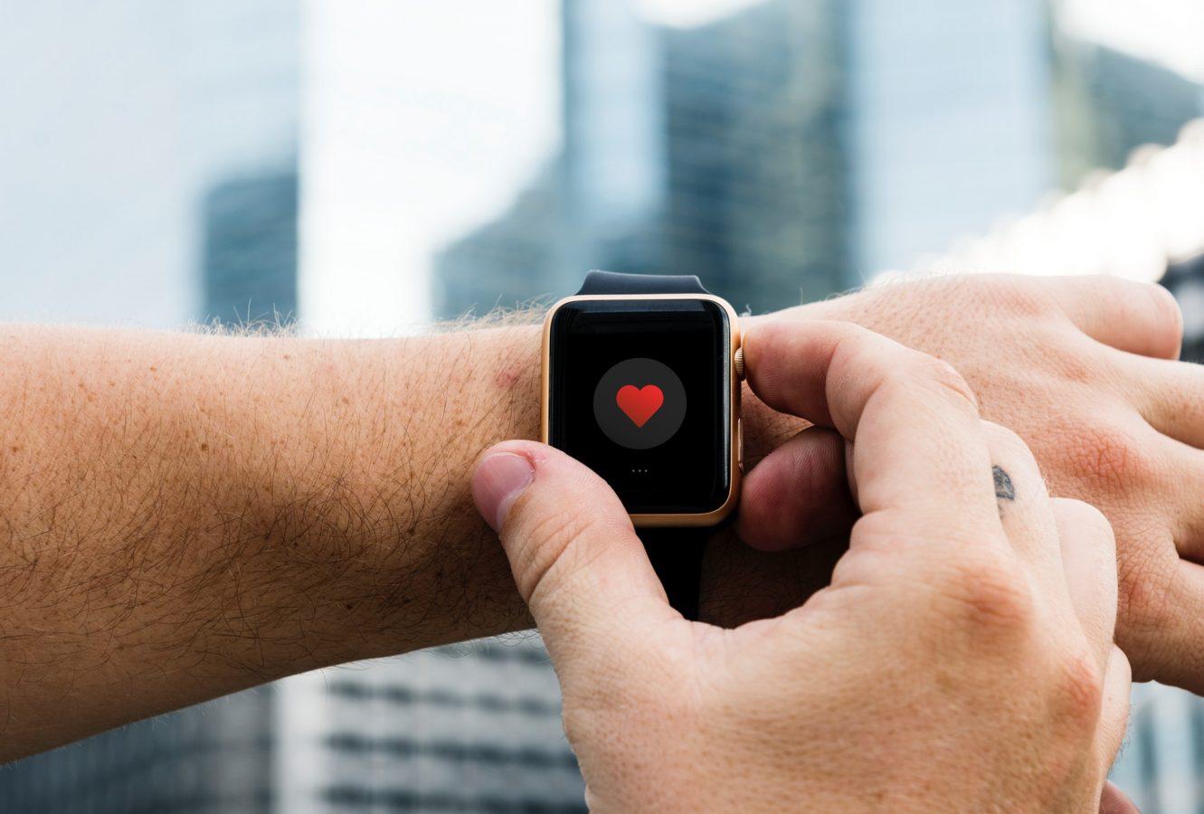 Heart on smart watch