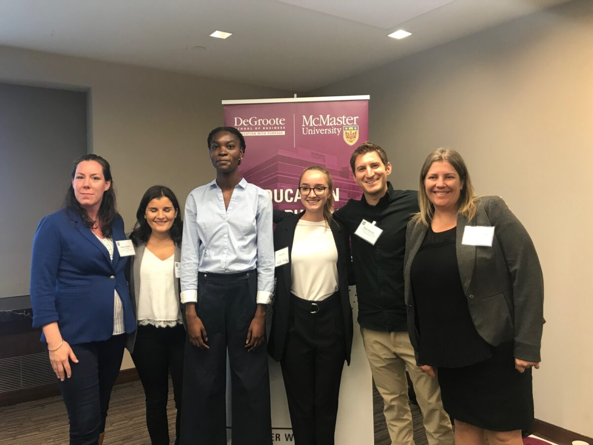 Group of DeGroote students and RBC reps at case competition