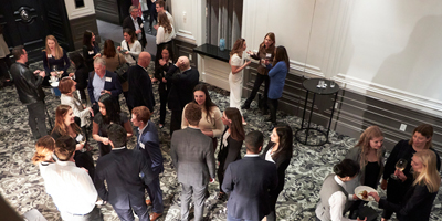 Networking at CSR event