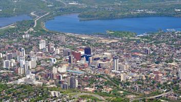 Aerial view of Hamilton Ontario