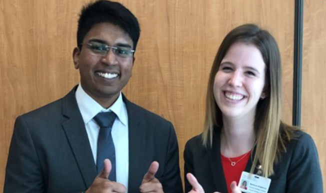 Two DeGroote MBA Students
