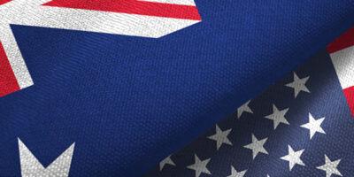 Australia-US flags