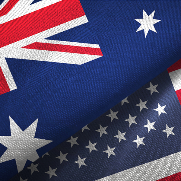 Australia-US flags