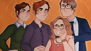 Sketch of Declan's family