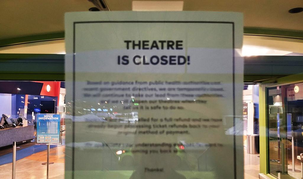 Movie theatre closed