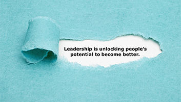 Leadership quote about unlocking potential