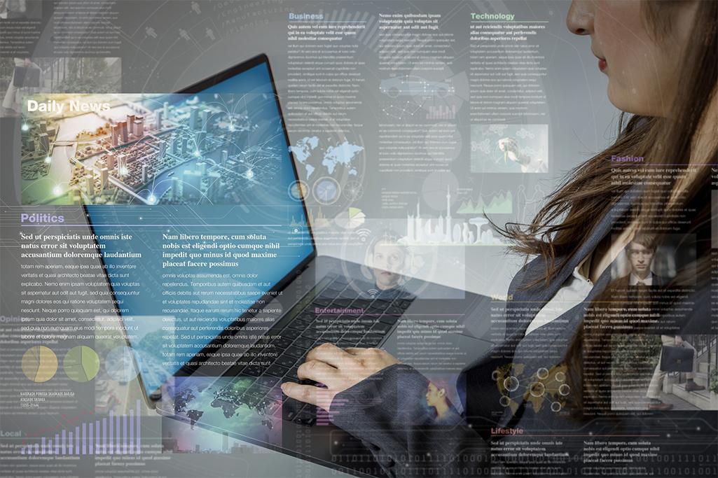 online curation media concept