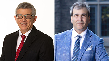 Mahmut Parlar and Mohit Bhandari, McMaster's two newest Distinguished University Professors.