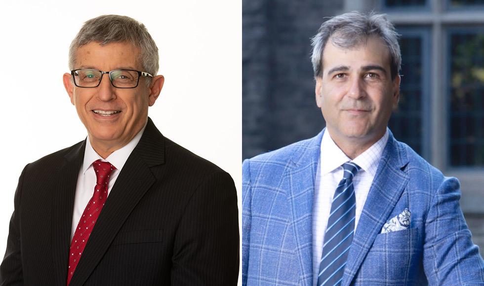 Mahmut Parlar and Mohit Bhandari, McMaster's two newest Distinguished University Professors.