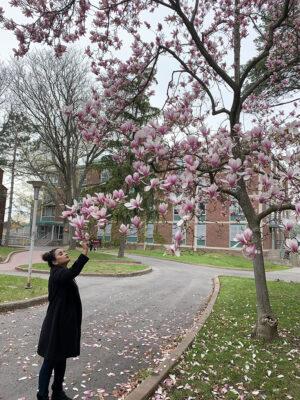 Megha Tretha, smelling the roses