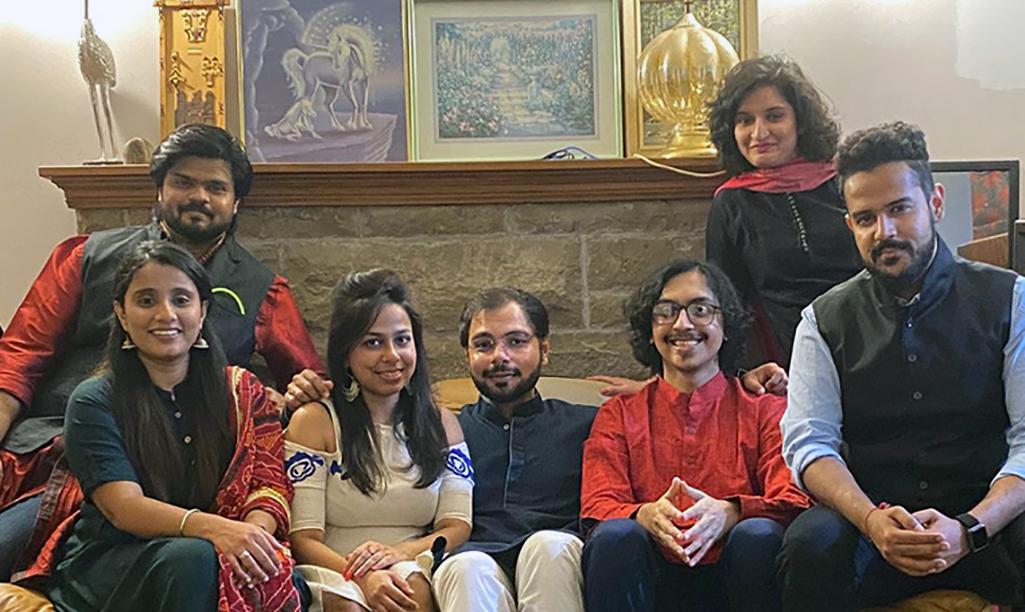 Megha Tretha & family