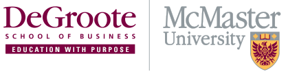 DeGroote and McMaster Logos