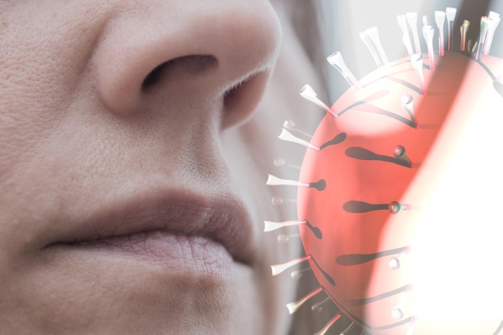 inhaling virus through airborne transmission