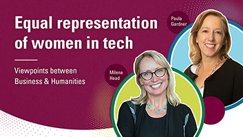 Milena Head and Paula Gardner: Equal representation of women in tech